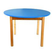 Детский деревянный столик с цветной круглой столешницей, Финекс (Синий)