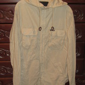 Мужская  хлопковая рубашка - куртка Ultramagnetic  с капюшоном,размер M(medium)
