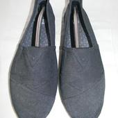 Мужские текстильные тапки-мокасины River Island р.44 дл.ст 28,3