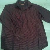 рубашка марсала бордовая