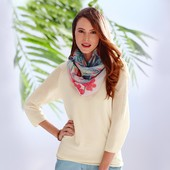 Кремовая блуза из деликатной ткани от ТСм(германия), размер 44 и 48 евро