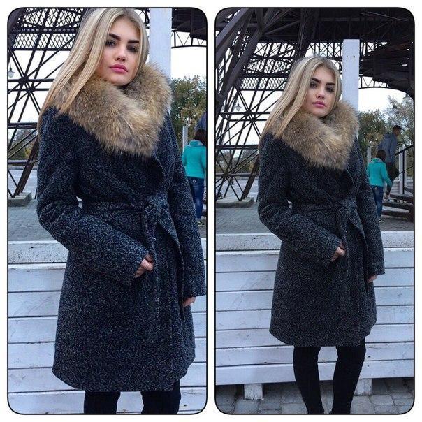 Зимнее пальто с меховым воротником отзывы