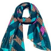 Теплый шарф Ромбы в расцветках