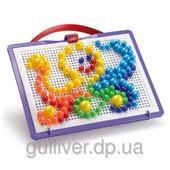 Набор - для занятий мозаикой (10-15-20 мм фишки (160 шт.) + доска 22х16, переносной)
