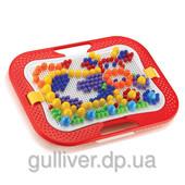 Набор - для занятий мозаикой (10-15-20 мм фишки (300 шт.) + доска 28х20, переносной)
