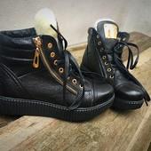 Зимние ботинки Натуральная кожа