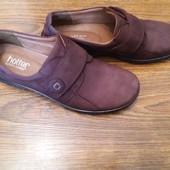 Кожаные туфли Hotter UK 7.5/ 27 см.