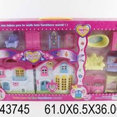Домик для кукол с мебелью, свет, звук, в кор. 61,0*6,5*36,0с