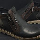 Кожаные ботинки Silver,натуральная шерсть