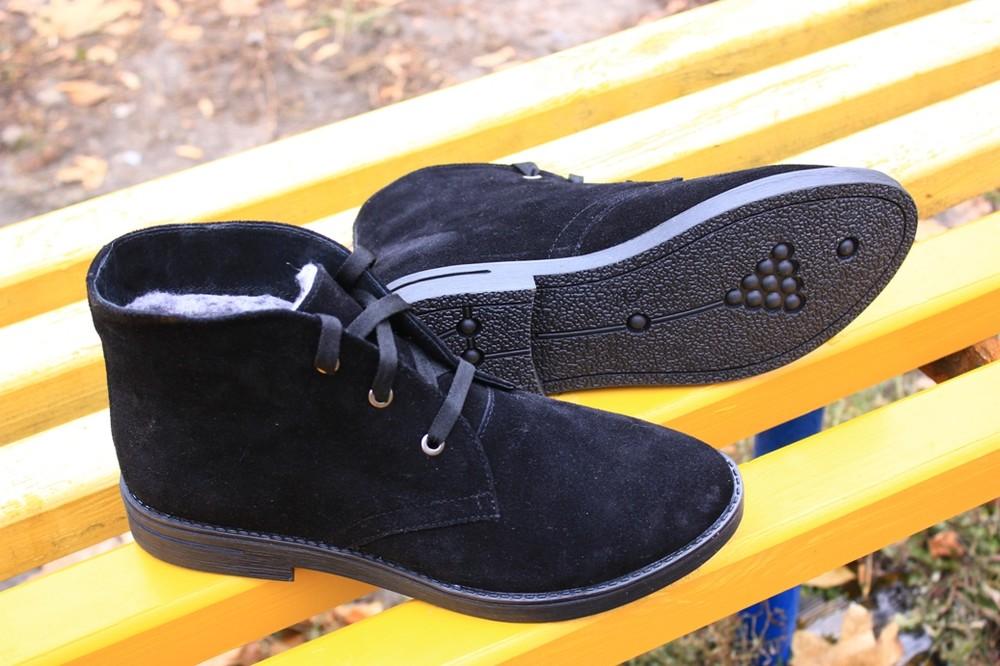 Зимние женские ботинки натуральная замша код: ин  1012-502 фото №1