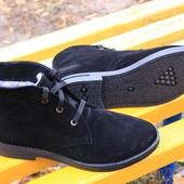 зимние женские ботинки натуральная замша код: ИН  1012-502