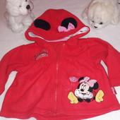 Флисовая кофта на модницу фирмы Disney Baby 9-12 мес