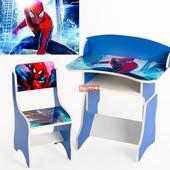 Парта растущая + стульчик, Человек - паук, Финекс +, арт 110