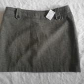 Новая шерстяная юбка Hennes для H&M XL
