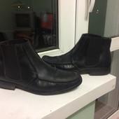 Ботинки кожаные качество26.5-27смлегкие