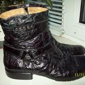 Кожаные сапоги размер 45