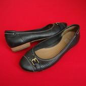 Балетки Clarks Black натур кожа 36-37 размер