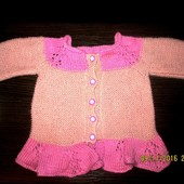 Теплая вязаная кофта свитер