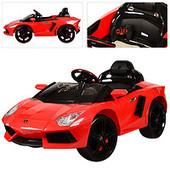 Электромобиль Lamborghini M 3217ebr-3 на eva колёсах, красный