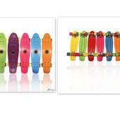 Скейтборд, пенни борд,пластик разные цвета , разные модели