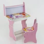 """Парта-пенал с полкой """"Winx"""" цвет розовый (парта+1 стул), 690*450"""