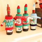 Новогоднее украшение для бутылок