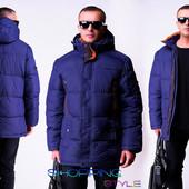 Стильная мужская зимняя куртка плащевка