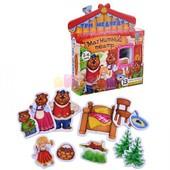 """Магнитный театр """"Три медведя"""", мягкие магниты, сказка, Vladi Toys"""