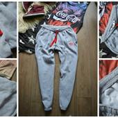 Стильные утепленные спортивные штаны Adidas р-р Л-ХЛ
