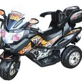 Детский электромобиль T-722 Black мотоцикл