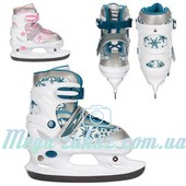Ледовые коньки/хоккейные коньки раздвижные Profi 5042: 34-37 размер, 2 цвета