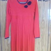 Платье красное с синим