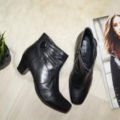 (38р.) 5th Avenue! Кожа! Красивые сапоги,ботинки в классическом стиле