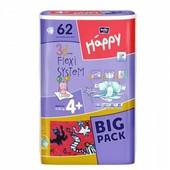 Памперсы/Підгузники дитячі Happy Maxi Plus (4+) від 9-20 кг 62шт.