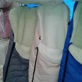 Зимние конверты в коляску, санки на овчине