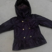 Демисезонная куртка George на модницу 6-9 месяцев