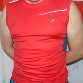 Фирменная спортивная майка оригинал Adidas.м-с .