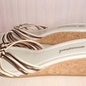 Новые босоножки, сандалии, шлепанцы Atmosphere, р-р 6 (39), кожа, Италия