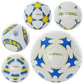 Мяч футбольный EV 3198 размер 5, ПВХ 1,6мм, 2слоя, 32панели, 300-320г