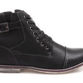 Код: gr1194  - Код: gr1195  Мужские класичные демисезонные ботинки на шнуровке черного ы синего цвет