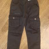 Стильні котонові штани на флісі 110-128. Венгрія. знижка