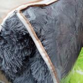 Меховое покрывало плед одеяло с наполнителем длинный ворс 210х230
