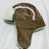 Теплая шапка-ушанка Tako( германия ), размер 56-58