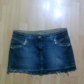 Фирменная джинсовая юбка М
