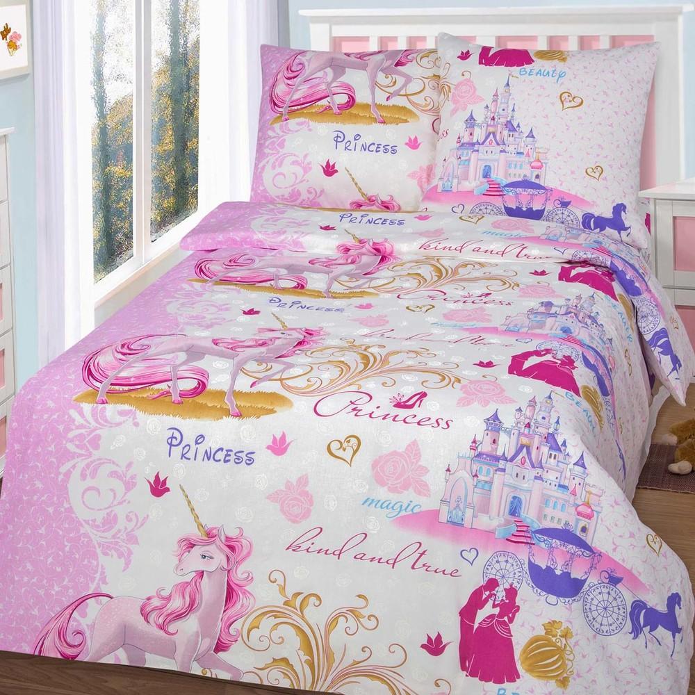Постельное белье для девочки, бязь - 20 мультяшных расцветок фото №2