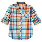 Яркая рубашка Gymboree, рукав подворачивается 4-5, 6, 7-8лет. Америка.