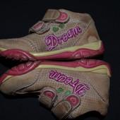 Кожаные ботиночки на липучках 23 (15 см по стельке)