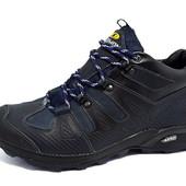Кроссовки кожаные зимние Salomon Gore-Tex Aero синие