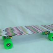 Пенни борд Fish Print «Вышиванка» для девочек. скейт, киев. Лучшая цена