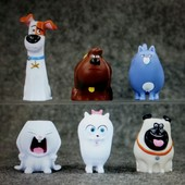 Набор игрушек с мультика Тайны домашних животный, 6 шт